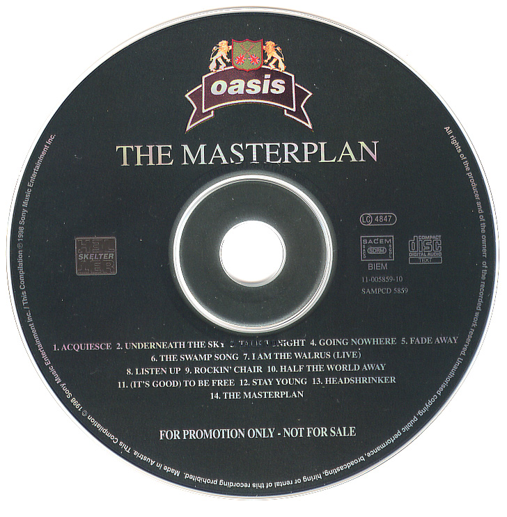 Oasis Collectors - The Masterplan CD SAMPCD 5859 Oasis Masterplan